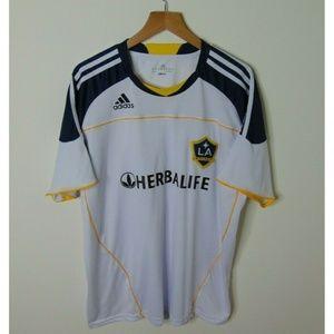 Adidas XL LA Galaxy Soccer Jersey Donovan 10 White